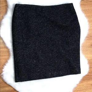 Ann Taylor Tweed Pencil  Size 6 Side Zipper Skirt